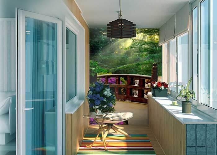 Фотообои на балкон - райский уголок в вашем доме тм арт-обои.