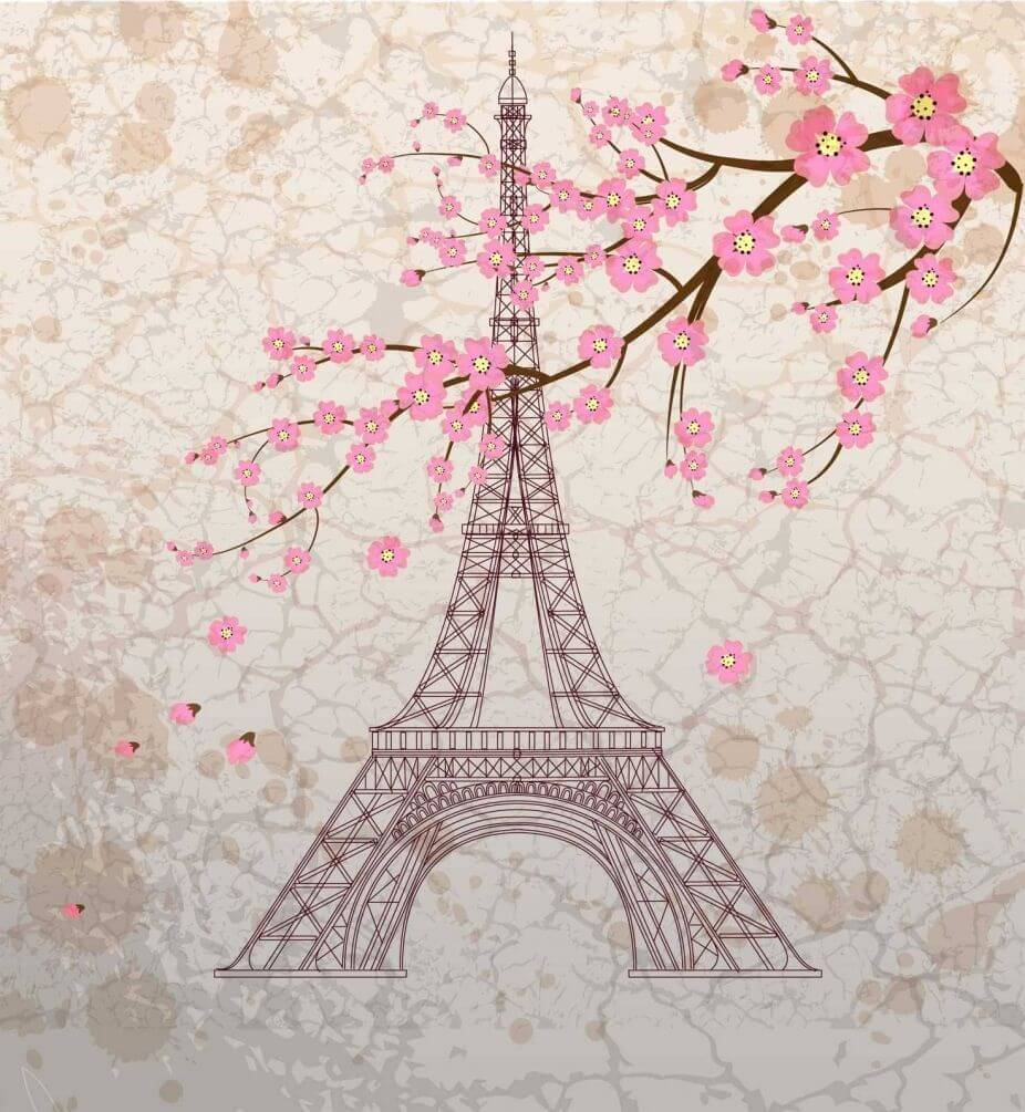 Париж рисунки своими руками