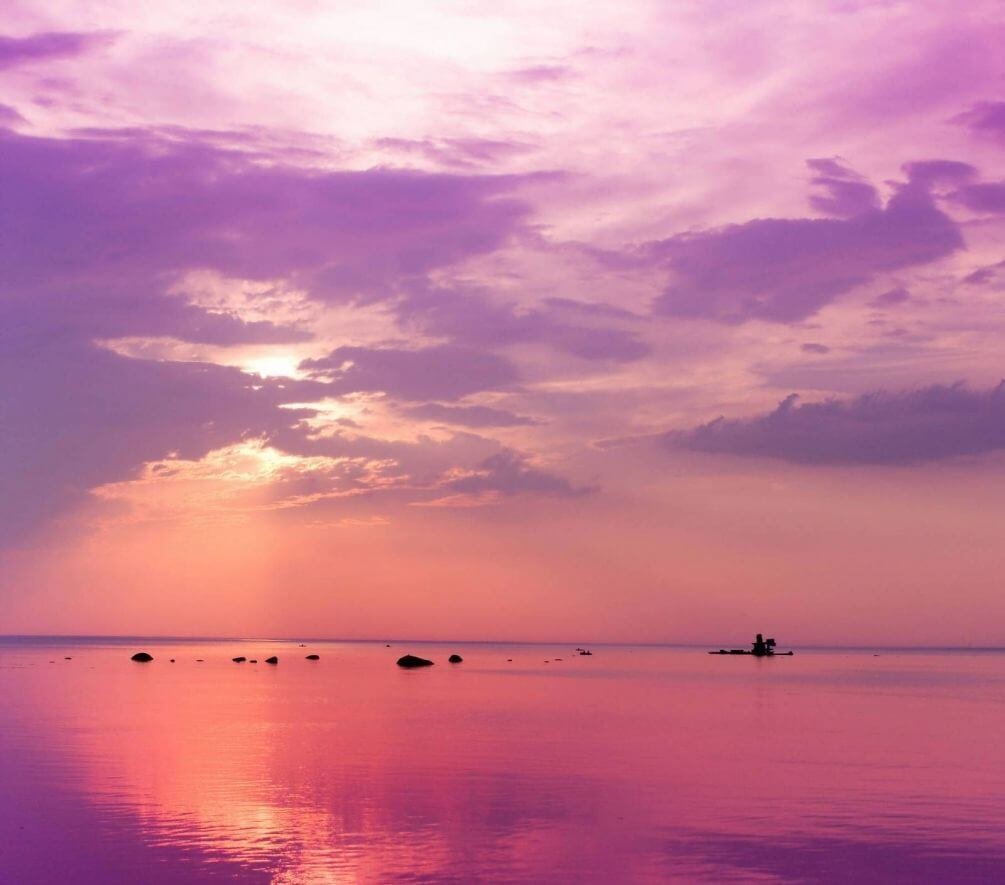 закат розовый картинки