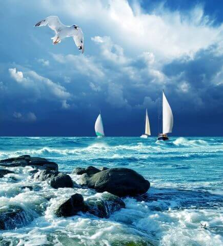 Вид на море с веранды