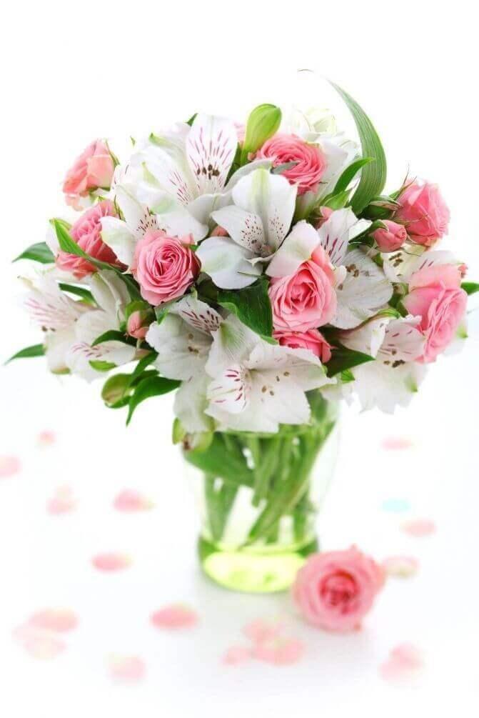 """Фотообои """"Букет из диких орхидей и роз"""" 6044 на заказ под свой размер - www.art-oboi.com.ua"""